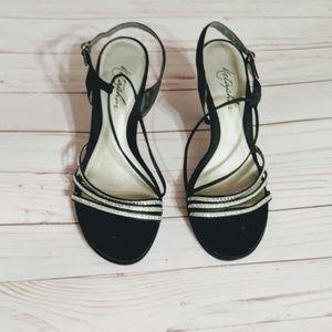 Metaphor Shoes - Metaphor Verena Black Strappy Sandal Heels sz.7M